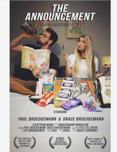 This couple turned their announcement into a LOL-tastic movie poster.