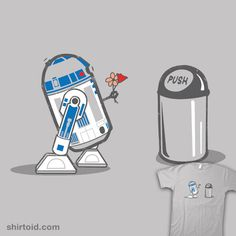 """Robot Crush"" by Kent Zonestar    R2-D2 has a little crush. Robots need love too."