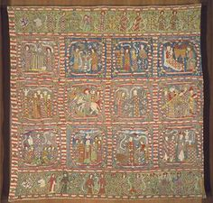 Embroidery- detail of altar frontal from the late 14th century, Metropolitan Museum of Arts, New York