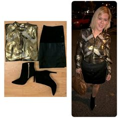 So I have to say that my date night look was a complete departure from what I would normally wear! I have to admit, I get sucked into the demin trap way to easily. Now,don't get me wrong I love my. Beauty Junkie, Night Looks, Music Lovers, Fashion Addict, What I Wore, Leather Skirt, Wordpress, Blog, How To Wear