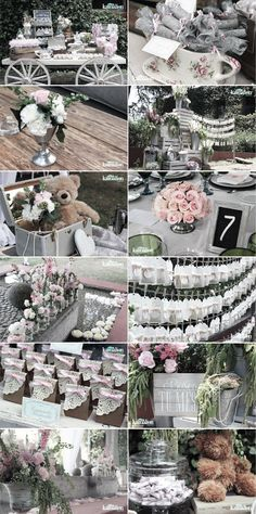 www.kamalion.com.mx - Boda / Wedding / Vintage / Rustic / Rosa & Gris / Pink & Gray / Decoración / Decor / Candy Bar / Centros de Mesa / Centerpiece