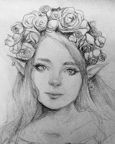 ArtStation - Elf sketch, Caterina Stella
