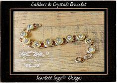 Bullet Casing Caliber Tennis Bracelet in Fine by ScarlettSage, $49.50