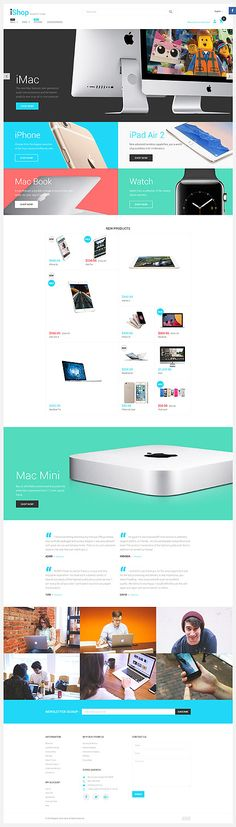 Apple Products Online Store #Magento #template. #themes #business #responsive #webshop #Magentothemes