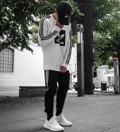 Instagram: @x_jnk_ Adidas Cap + Sweatpants + White YZY 350