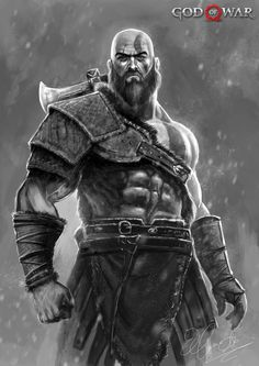 ArtStation - KRATOS (GOD OF WAR) new begining, Hassan Ali