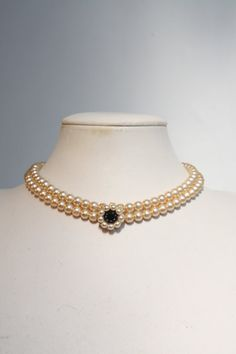 Bridal Necklace Onyx Wedding necklace Onyx And Pearls Jewelry Bridal multi strand Choker Statement Necklace Vintage Style Bridal Choker 1920 Bridal Jewelry Vintage, Wedding Jewelry, Simple Jewelry, Unique Necklaces, Pearl Jewelry, Beaded Jewelry, Gold Jewelry, Bridal Necklace, Luxury Jewelry