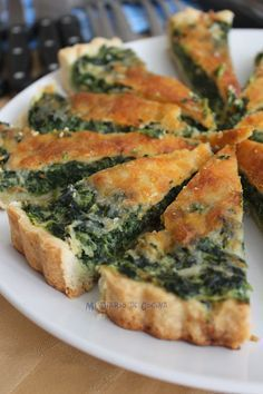 111 Different Vegetable Dishes Ideas - Food Keto Quiche, Quiche Recipes, Spinach Recipes, Vegetarian Recipes, Veggie Recipes, Cooking Recipes, Healthy Recipes, Quiches, Food Porn