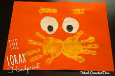 The Lorax is one of our favorite Dr. Seuss books. @divanataliek shares this cute hand print art project.