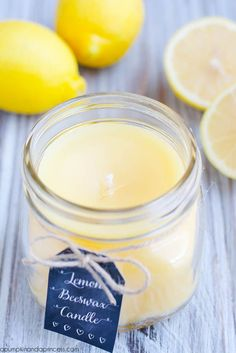 Lemon Beeswax Candle DIY Lemon Beewax Candle (or melts/tarts / melt jar. Deb)DIY Lemon Beewax Candle (or melts/tarts / melt jar. Aromatherapy Candles, Beeswax Candles, Soy Candles, Scented Candles, Candle Jars, Candle Holders, Bougie Cupcake, Velas Diy, Beeswax Recipes