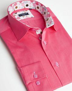 Dark pink italian shirt - Franck Michel shirt