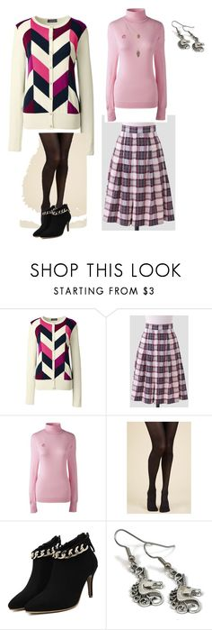 """""""GRAPHIC SWEATER"""" by gyhulm ❤ liked on Polyvore featuring Lands' End and think"""