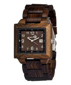 Loving this Dark Brown Culm Wood Bracelet Watch on #zulily! #zulilyfinds