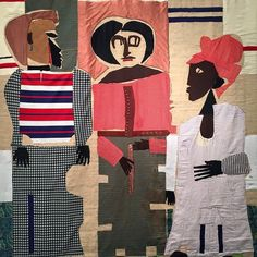 Junction Piquette. A quilt by the American artist Romare Bearden (1911- 88) better known for his mixed media and photomontage collages depicting African American life.