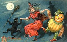 Halloween Postcards are all original size.  Please right click and save to your computer.  If you want all of the postcards below plus mor...