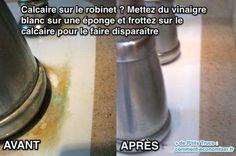 Le calcaire accumulé sur les robinets est porteur de germes et risque de bloquer la plomberie. Voici l'anti-calcaire le moins cher (à 0,45 € le litre) et le plus efficace : le vinaigre blanc.  Découvrez l'astuce ici : http://www.comment-economiser.fr/calcaire-robinet-vinaigre-blanc-anti-calcaire-truc.html?utm_content=buffer26da1&utm_medium=social&utm_source=pinterest.com&utm_campaign=buffer