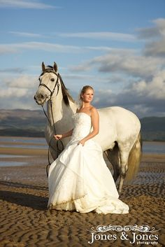 """bride with horse"""