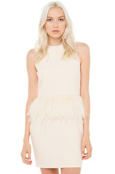 4e97c2cc5d Lovekiller Feather Dress - Cream