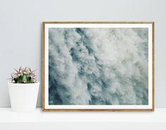 Waterfall print Sea print Nature Modern art Wall by WallArt2Decor
