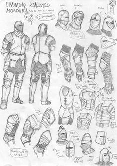 Medieval European Armour Sketch by Iron-sage
