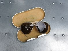 WW2 B&L AN-6531 sunglasses, another example from the ebay seller schutzenfest42