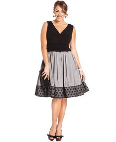 Sleeveless A-Line Ruched - Plus Size Dresses - Plus Sizes - Macy's