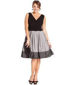 SL Fashions Plus Size Dress, Sleeveless A-Line Ruched - Plus Size Dresses - Plus Sizes - Macy's
