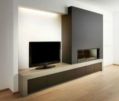 Image result for fireplace long from wall