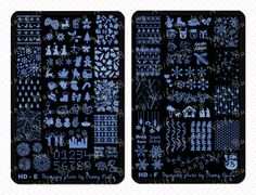 New: HD and BuNa Stamping Plates Christmas xmas thanksgiving snowflakes nail art stamp designs