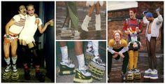 Anos 90, sapatos de plataforma.