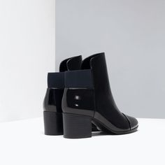 ZARA - SHOES & BAGS - ELASTIC ANKLE BOOT WITH HEEL