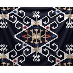 Simply Daisy 80 inch x 60 inch Jodhpur Medallion Geometric Print Tapestry, Blue