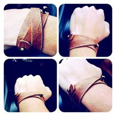 DIY leather bracelet by lovestuffsshop