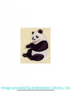 Stickmotiv Stickbild Aufnäher Stickerei Emblem Asien Panda Panda / Stickerei Panda (A4465)