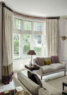 Christopher Hyland Drapery Hardware Swept Wood Bay Featured In This Beautifully Designed Living Room With Window