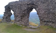 LEGENDS... Dinas Bran: castle of the Raven King, once home to the legendary king, Bran the Blessed, whose cauldron granted eternal life.  As you walk into the valley, you can hear the ravens cawing...