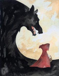 Des éclaboussures dans le monde: Red Riding Hood