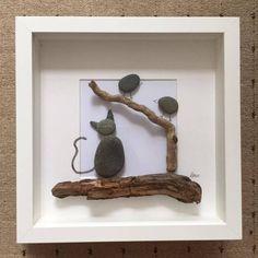 Arte de piedra de gato por LMcArtandPhotography en Etsy