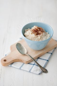 Arroz con leche / Euge de la Peña Blog Sweet Life, Spoon Rest, Sweet Tooth, Tableware, Blog, Drink, Gastronomia, Cooking Recipes, Food