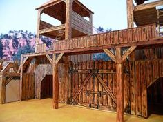 Wooden Fort, Forte Apache, Old West Town, Train Set, Old Models, Paper Models, House In The Woods, White Wood, Wild West