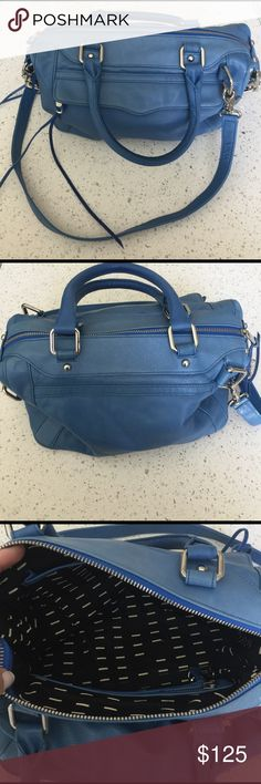 Rebecca Minkoff Blue Purse Perfect Condition Blue Leather Purse with silver hardware. Interior very clean no stains or spills. Worn only a handful of times. Good as new ☺️ 📦Fast Shipper!! 💯 Top Rated Seller so buy with confidence 👍🏻. Bundle 2 or more items for 15% off! Happy Poshing🔑 Rebecca Minkoff Bags