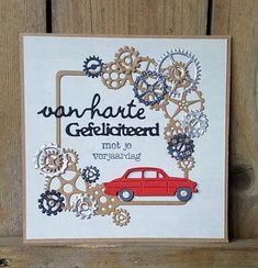 Car Card, Boy Cards, Fathers Day Cards, Marianne Design, Masculine Cards, Handmade Cards, Maps, Stampin Up, Card Ideas