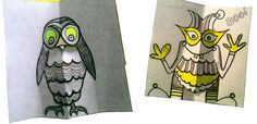 owl and monster Painting & Drawing, Owl, Reusable Tote Bags, Creatures, Drawings, Crafts, Owls, Crafting, Handmade Crafts