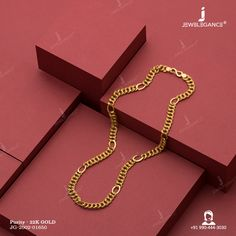 22K Plain Gold Handmade Chain (20.35 gms) - Plain Gold Jewellery for Men by Jewelegance (JG-2002-01650)  #myjewelegance #chain  #richlook #heavyjewellery #plaingoldnecklace Mens Gold Jewelry, Gold Jewellery, Gold Chains, Ss, Gold Necklace, Diamond, Detail, Handmade, Wedding