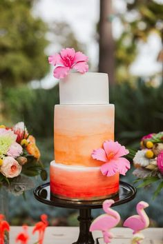 tropical wedding theme modwedding.com - studiocake.com.au