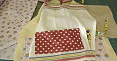 Turn Your Tea Towels Into An Adorable Apron!