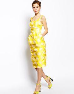Image 4 ofASOS Marilyn Sash Jacquard Midi Dress