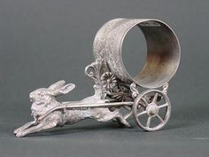 Detailed antique napkin ring.