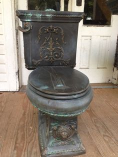 kohler victorian toilet-- this belongs in my castle. Victorian Furniture, Victorian Decor, Gothic Home Decor, Victorian Homes, Antique Furniture, Cool Furniture, Diy Home Decor, Steampunk Furniture, Victorian Toilet