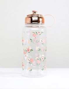Buy New Look Floral Print Large Water Bottle at ASOS. With free delivery and return options (Ts&Cs apply), online shopping has never been so easy. Get the latest trends with ASOS now. Large Water Bottle, Cute Water Bottles, Water Bottle Design, Drink Bottles, Perfume Bottles, 1 Liter Water Bottle, Plastic Bottle Flowers, Plastic Bottles, Cute School Supplies